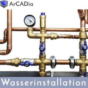 ArCADia BIM Erweiterungen - Trinkwasserinstallation Planung von Wasserleitungen